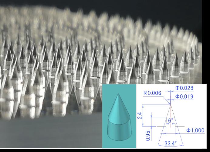 樹脂製マイクロニードルマスター型
